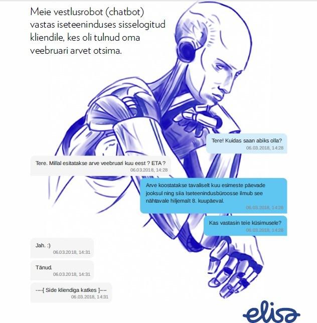 Elisa toob kliente teenindama vestlusroboti